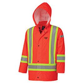Pioneer Flame Resistant PU Stretch Hi-Viz Waterproof Jacket