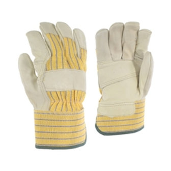 # 24-50-C Ganka Ladies Glove-Cowgrain-Palm lined-Striped-PE
