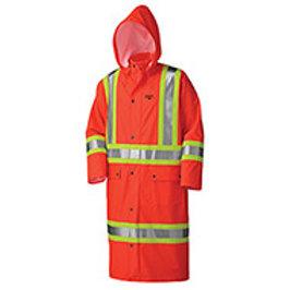 Pioneer Flame Resistant PU Stretch Hi-Viz Long Waterproof Coat