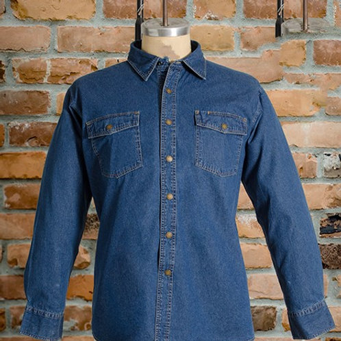 # 176E19 MWG Denim Long sleeve Snap shirt