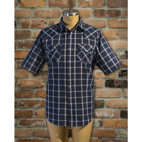 # I30E00 MWG Poly cotton Short sleeve western snap shirts
