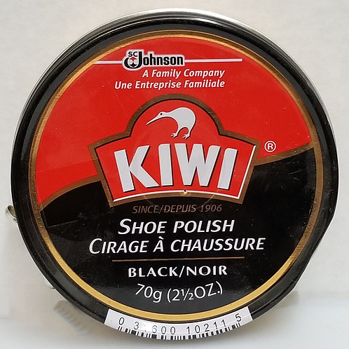 Kiwi Large Black Shoe polish