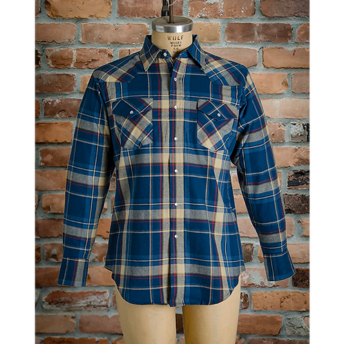 #I36V00 MWG 100% Cotton Flannel Long sleeve snap shirts