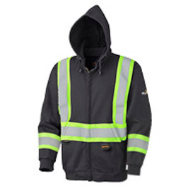 Pioneer Flame Resistant Zip Style Heavyweight Cotton Safety Hoodie