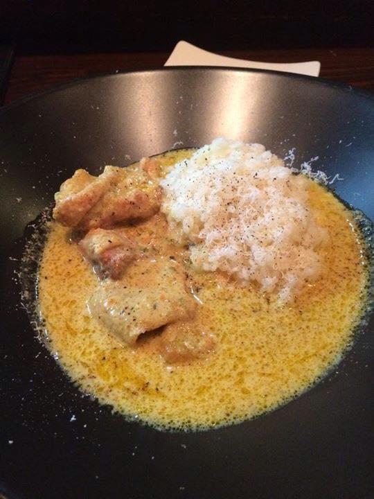 Facebook - 昨夜のカレー ひね鷄のカレー風味、リゾットとペコリーノで!  お昼、ご予約様向けにしようかな?