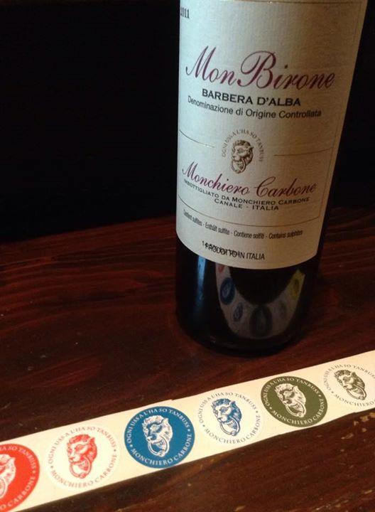 Facebook - 先日、モンキエロのオーナー夫妻ともお会いでき、記念にシールを頂きました^ ^ ここのワインで、僕が一番好きなのは、モンビローネ・バルベーラ