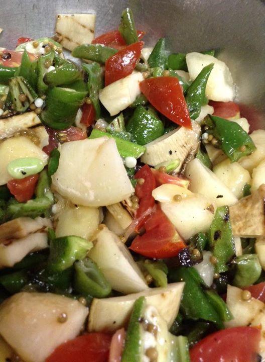 Facebook - 桃とグリル野菜のサルサ