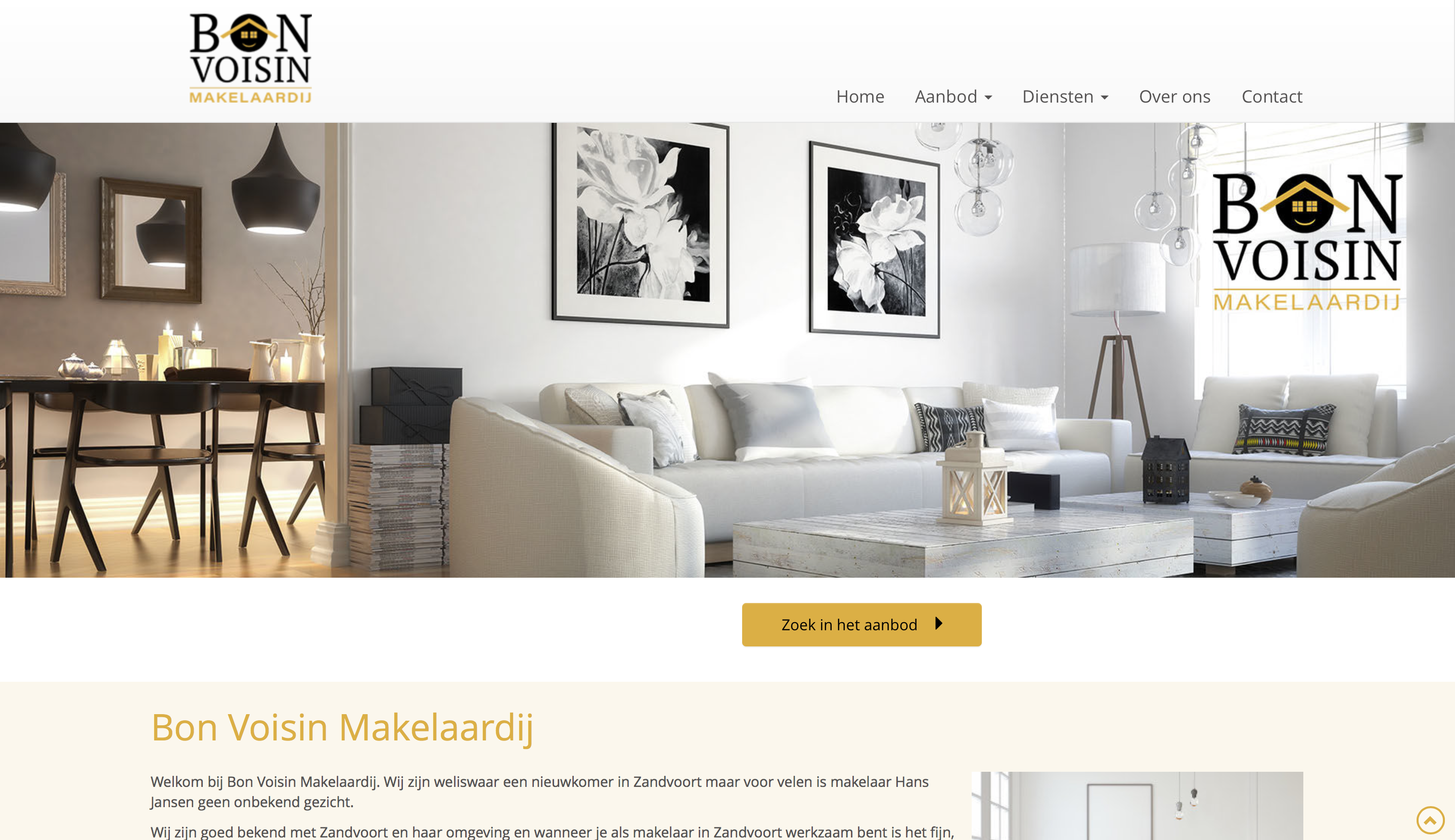 website Bon Voisin Makelaardij