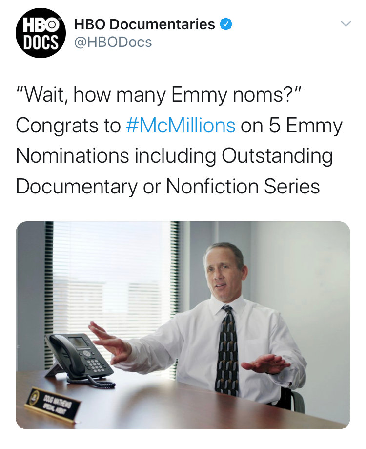 MCMILLIONS NOMINATED FOR 5 EMMYS