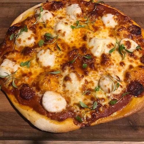 Scallop & Chorizo Pizza