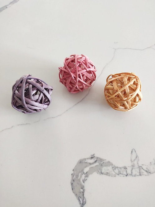 Trio Of Flavoured Bamboo Balls