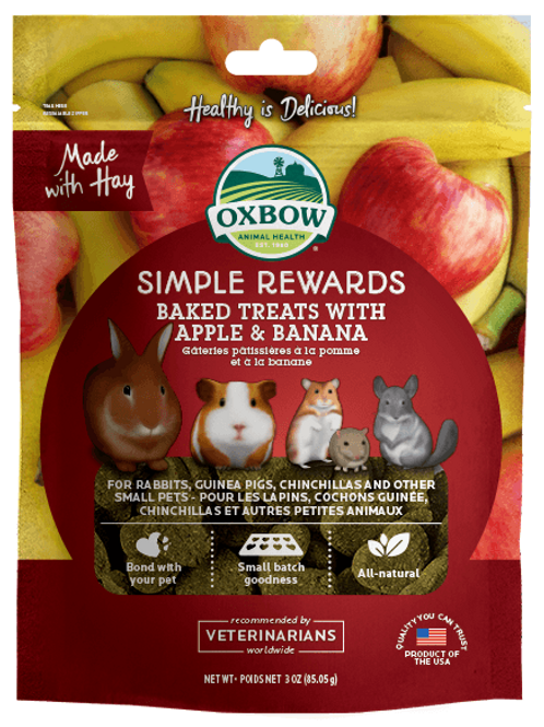 Oxbow Treats Apple and Banana