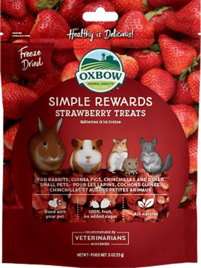 Oxbow Treats Freeze Dried Strawberry