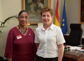 La Embajadora Hambre Cero de la FAO se reúne con la Directora de la AECID