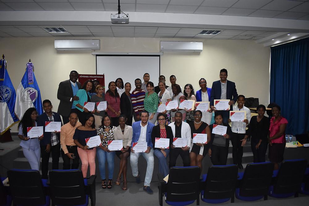 *Investidura de los cursos y talleres Hambre Cero, Agosto del 2018.