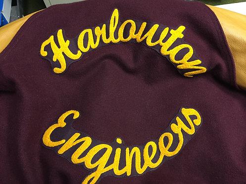 Letterman's jacket letters
