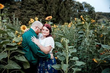 Sunflower engagement photo