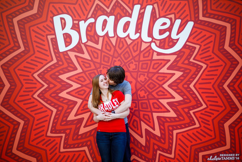 Engagement session at Bradley University in Peoria Illinois