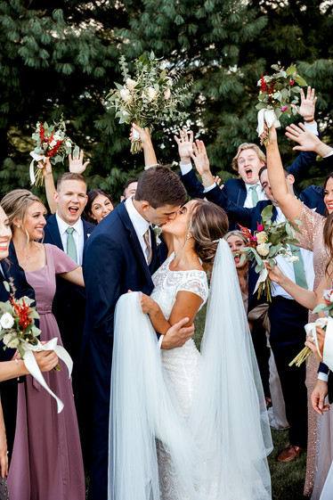 Bridal Party at Lavender Crest Winery