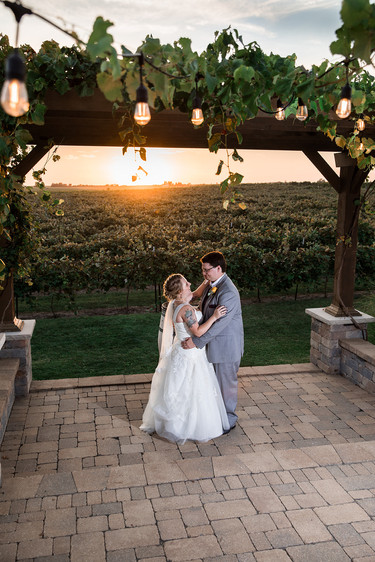 Sunset Wedding Portrait
