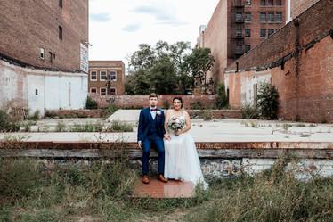 Downtown Wedding Photo