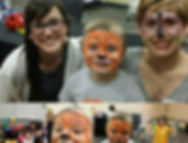 Face painting fun with #mobilemommies #h