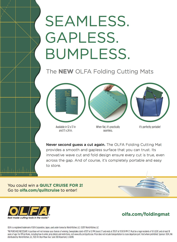 OLFA Folding Mat Ad Campaign