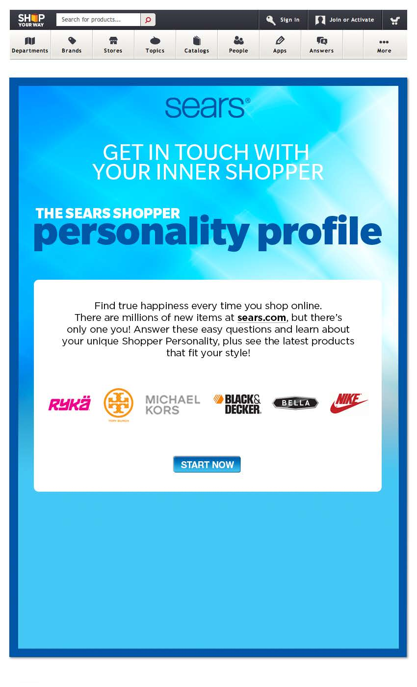 Sears Mobile Game App