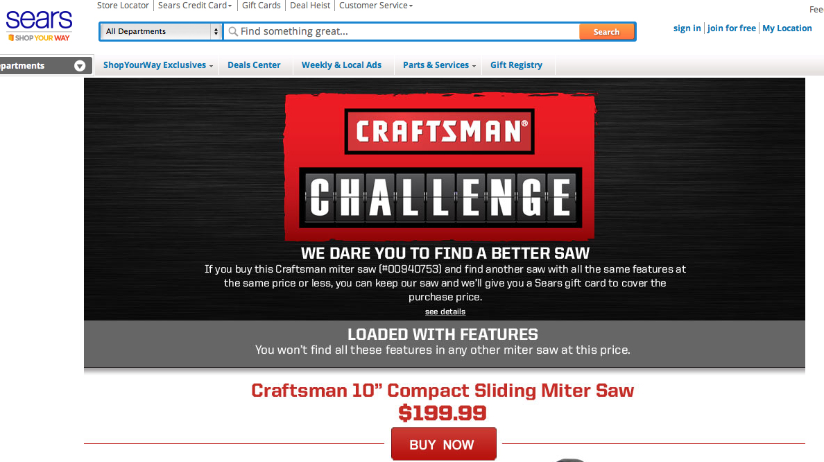 Craftsman Challenge Digital Campaign