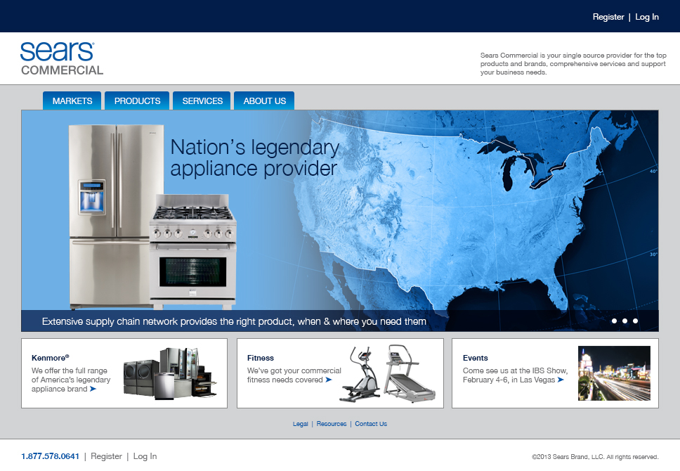 Sears Commercial Website