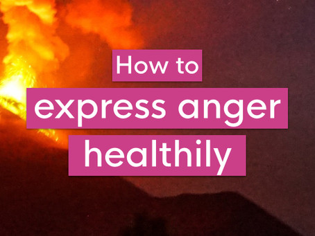 How to express anger healthily
