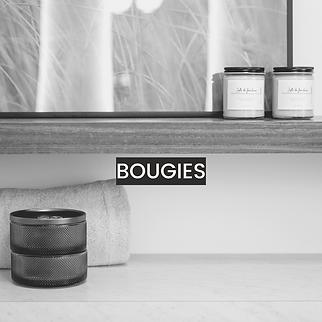 Bougies DSD - Carré insta boutique (gris