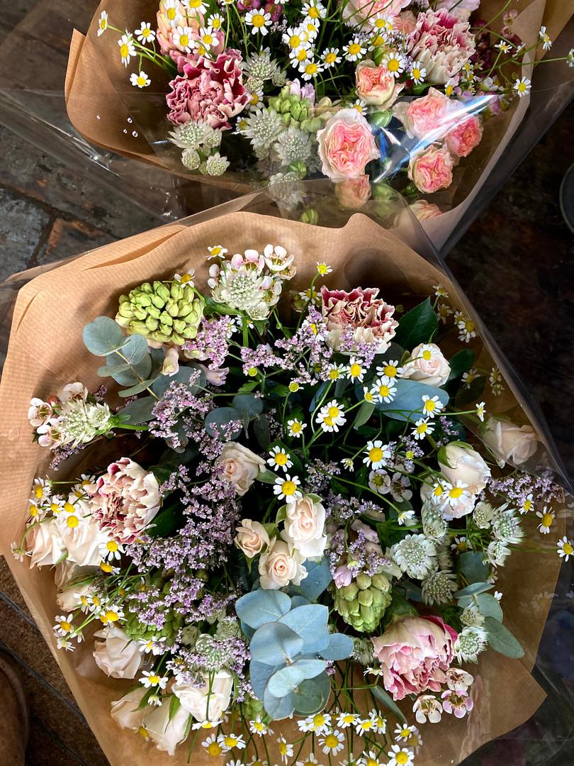 Pastel colour bouquets