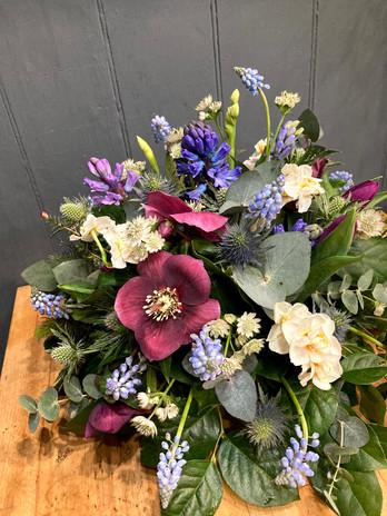 Posy arrangement from £60.