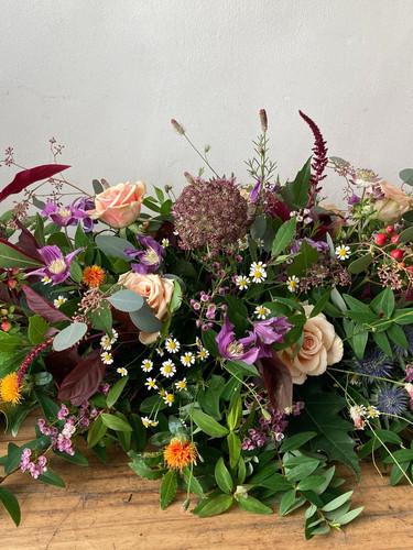 Autumn funeral display