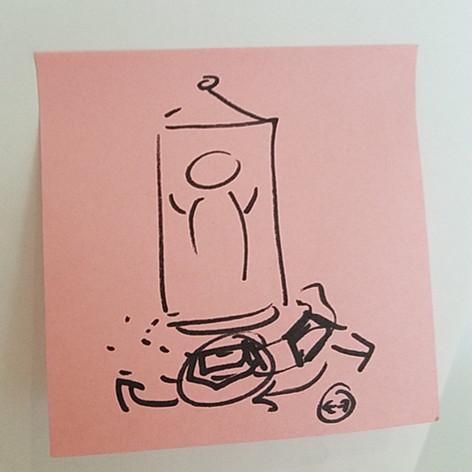 Rotating the Human Diagram Sketch
