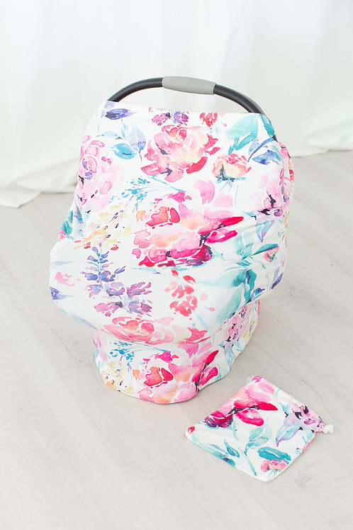 Car Seat Canopy Flower