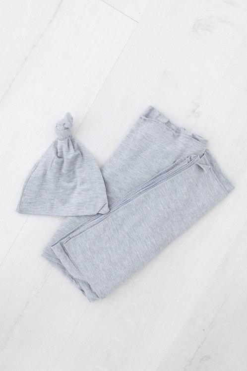 Gray swaddle blanket