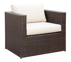4 Pcs Espresso/Ivory Chair