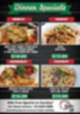 Hide Away Bistro_A1 Poster_Dinner Specia