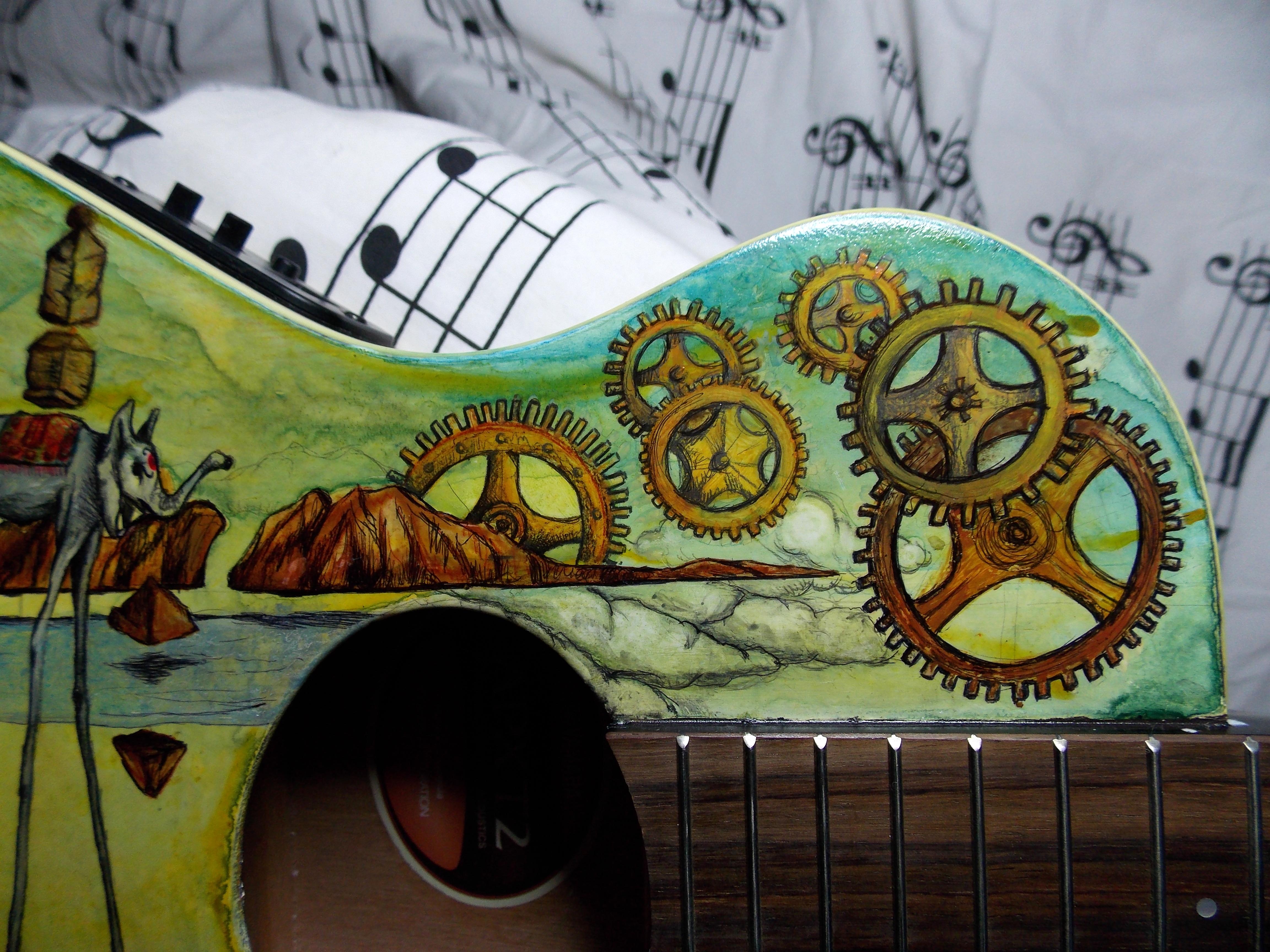 Dali guitar detail