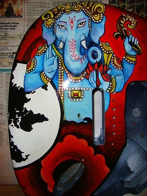 Ganesh guitar detail