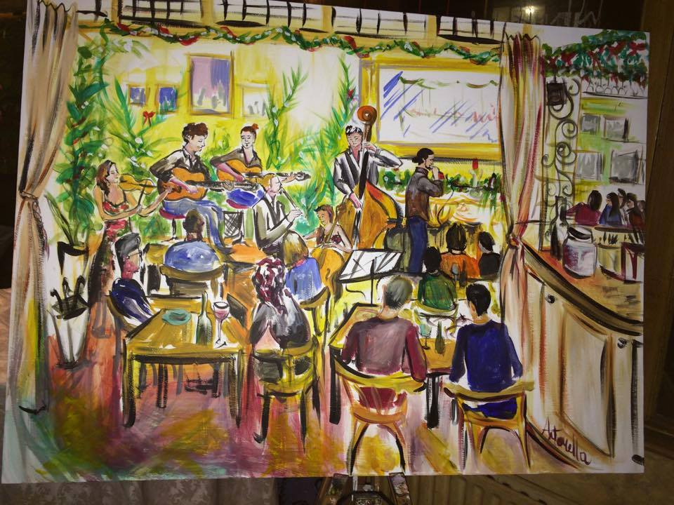 Live Painting at Le Quecumbar