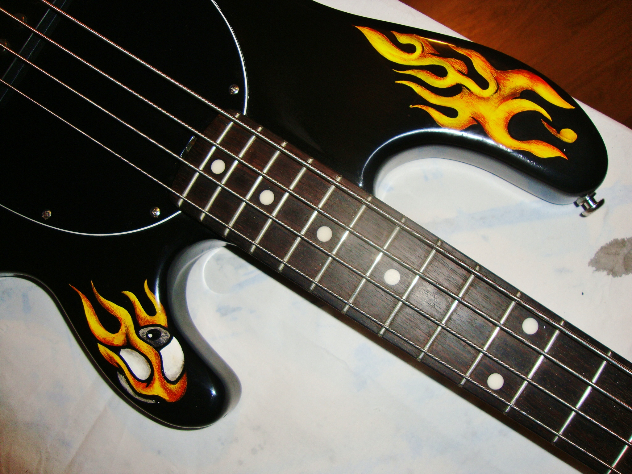 Fire on the bass