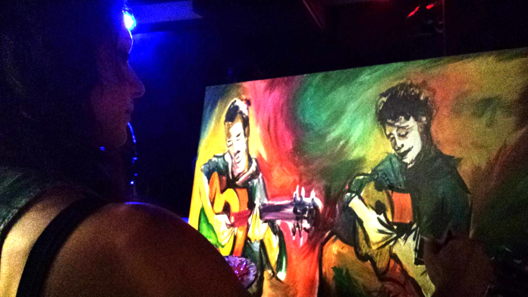 Live painting at The Blind Bee