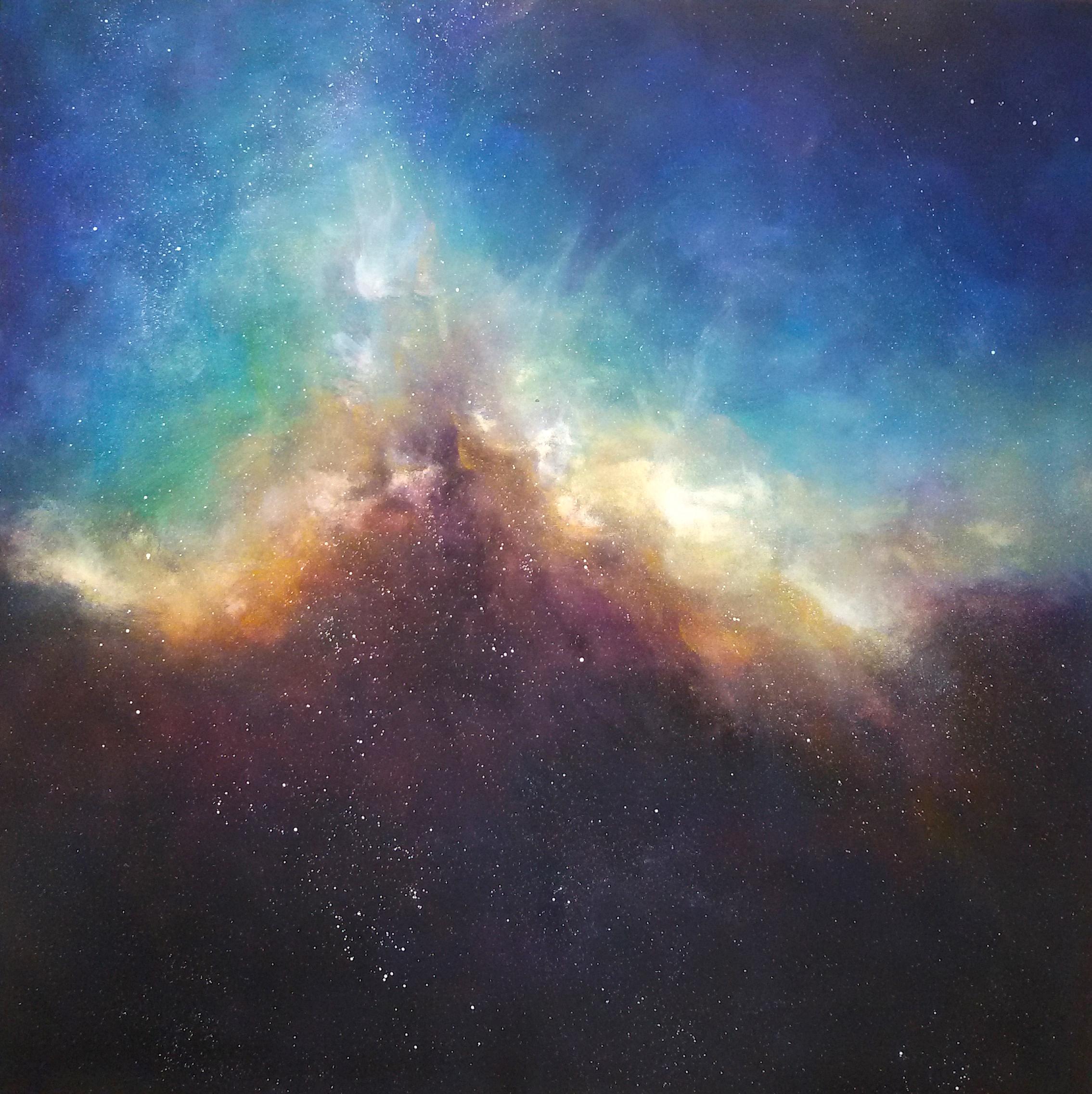 _Bursting Colours_ Acrylic, 100x100cm