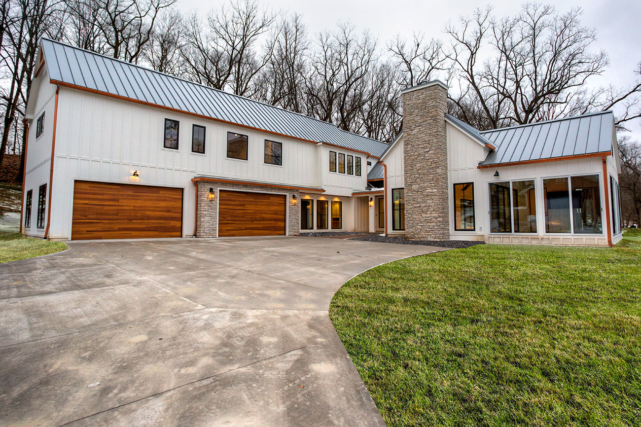 Modern Industrial Farmhouse West Des Moines Iowa Custom Home By Mainbuilt