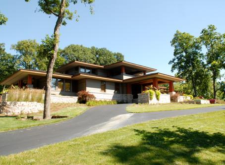 Frank Lloyd Wright Style 2-Story Custom Home by Mainbuilt