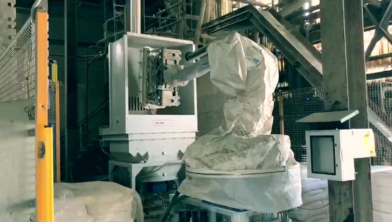 Cella robotizzata per la depallettizzazi
