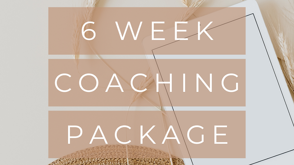 6 Week Coaching Package